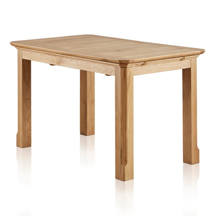 "Edinburgh Natural Solid Oak 4ft 3"" x 2ft 7"" Extending Dining Table - Image 1"