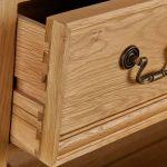 Edinburgh Natural Solid Oak 5 Drawer Tallboy - Thumbnail 4