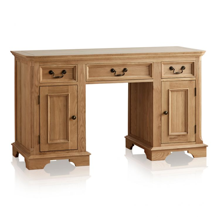 Edinburgh Natural Solid Oak Computer Desk - Image 5