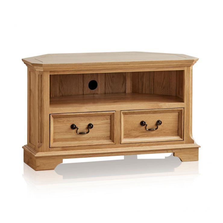 Edinburgh Natural Solid Oak Corner TV Cabinet - Image 6