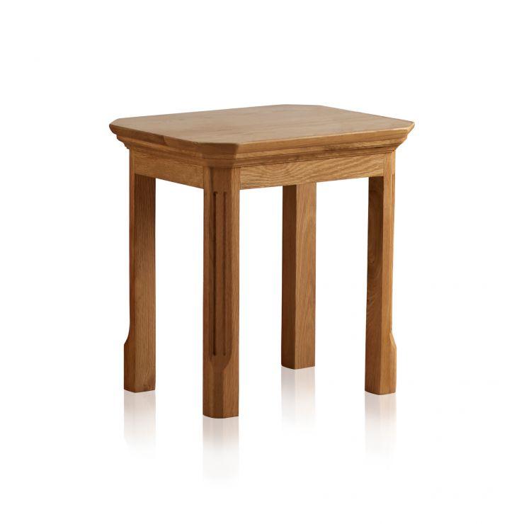 Edinburgh Natural Solid Oak Dressing Table Stool - Image 4
