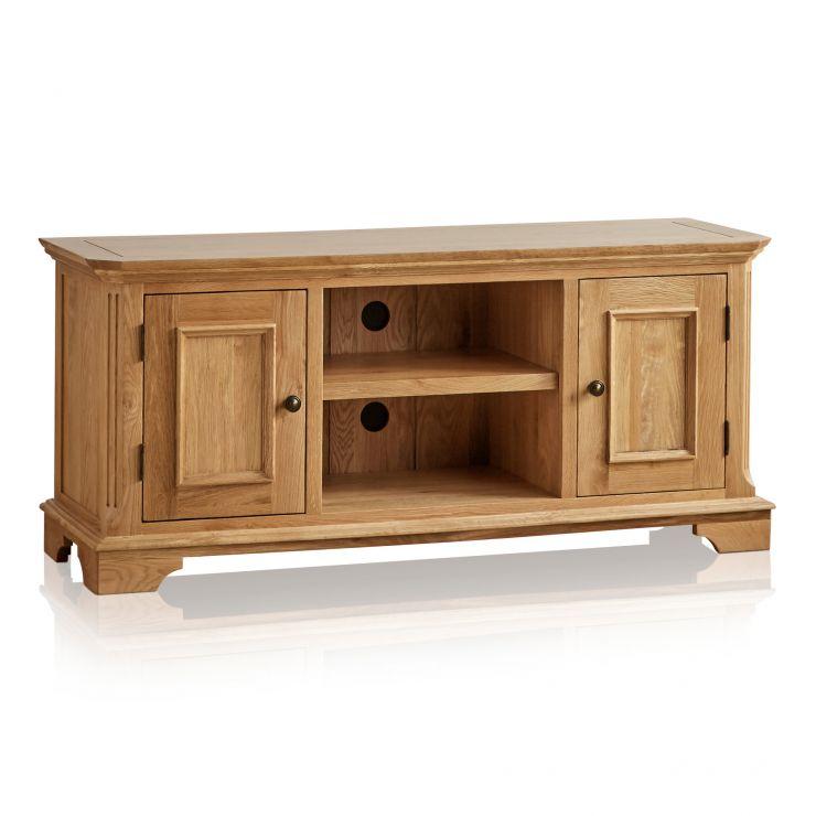 Edinburgh Natural Solid Oak Large TV Cabinet - Image 6