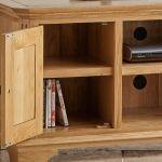 Edinburgh Natural Solid Oak Small TV Cabinet - Thumbnail 5