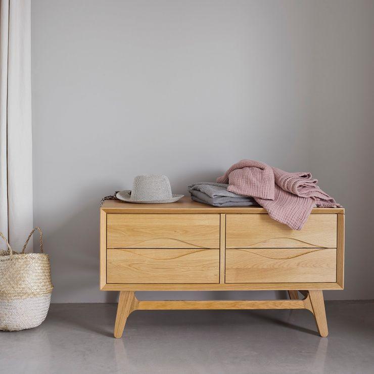 Ellipse Natural Solid Oak Blanket Box