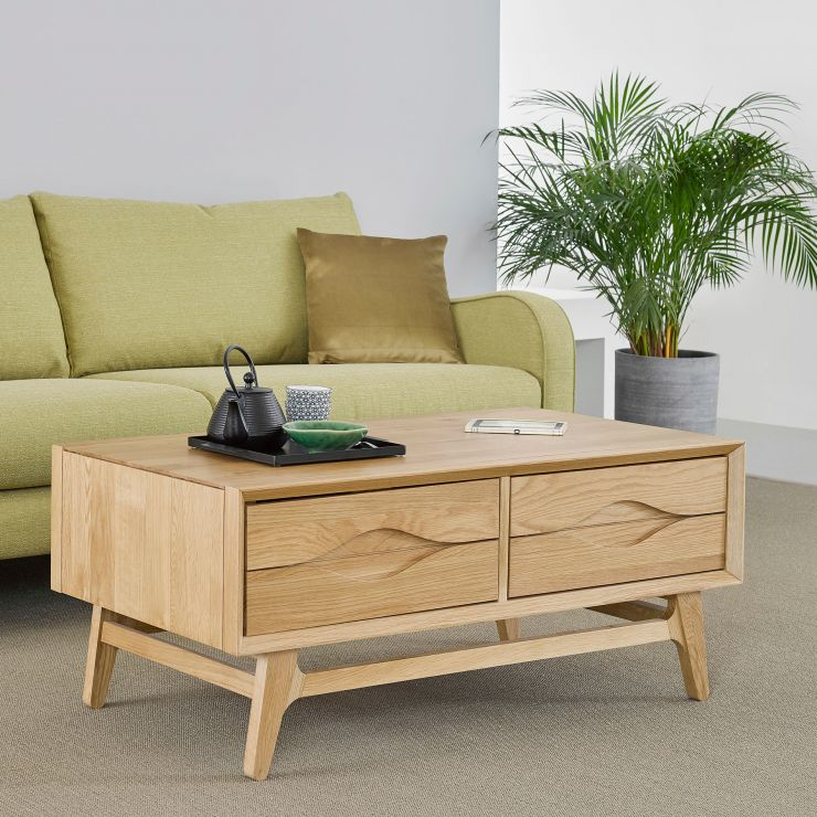 Ellipse Natural Solid Oak Coffee Table