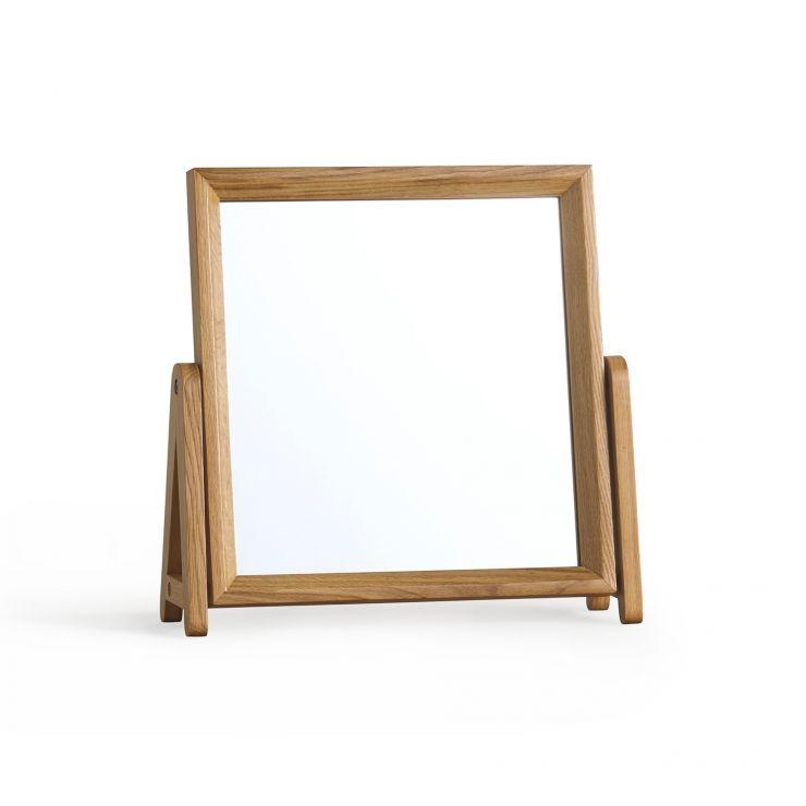 Ellipse Natural Solid Oak Dressing Mirror