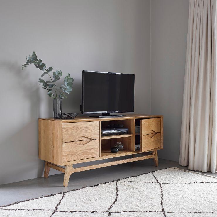 Ellipse Natural Solid Oak Large TV Unit