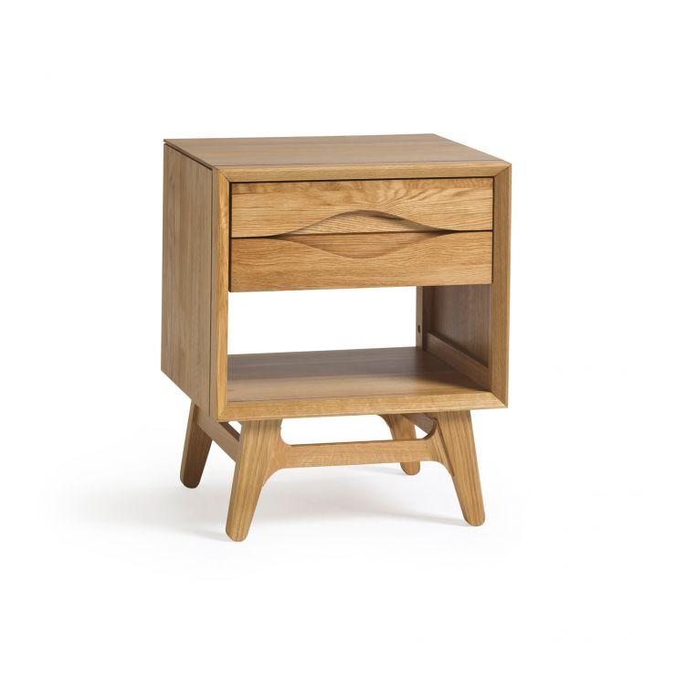 Ellipse Natural Solid Oak Side Table