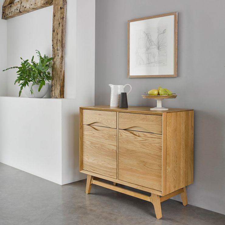 Ellipse Natural Solid Oak Small Sideboard