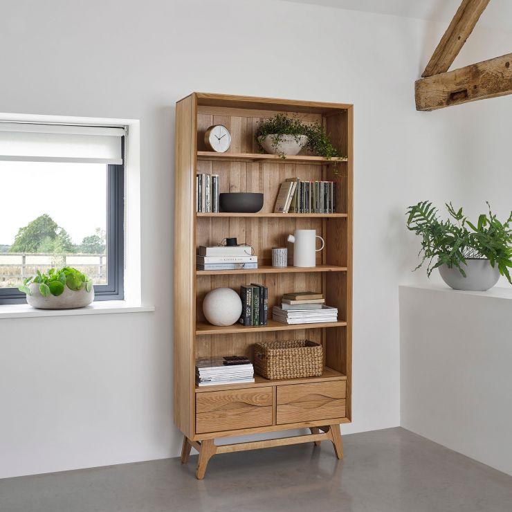Ellipse Natural Solid Oak Tall Bookcase