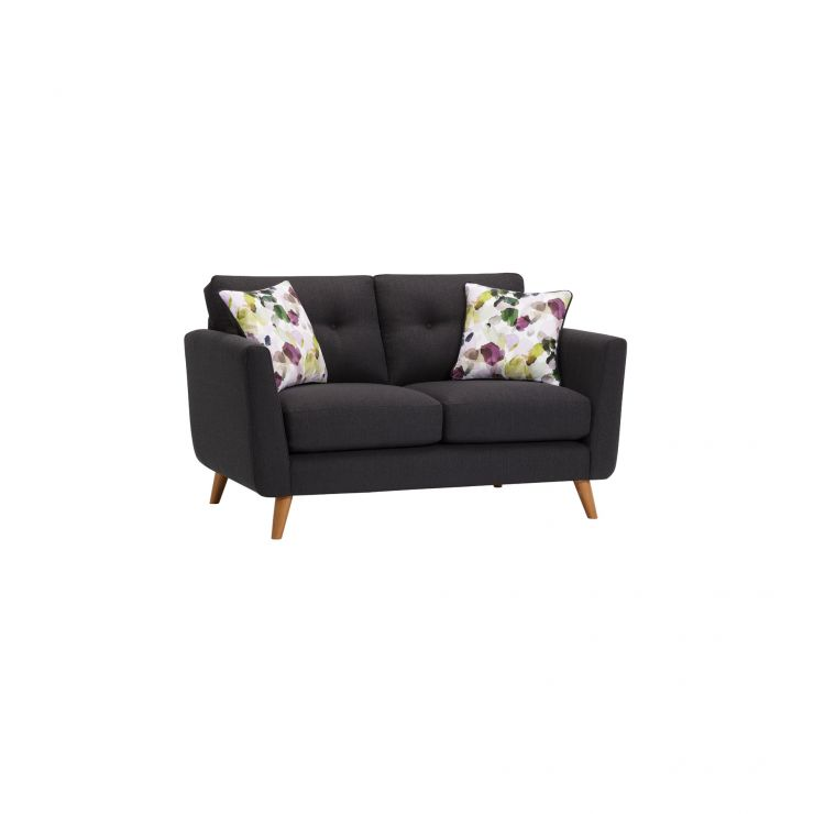 Evie 2 Seater Sofa in Charcoal Fabric - Image 1