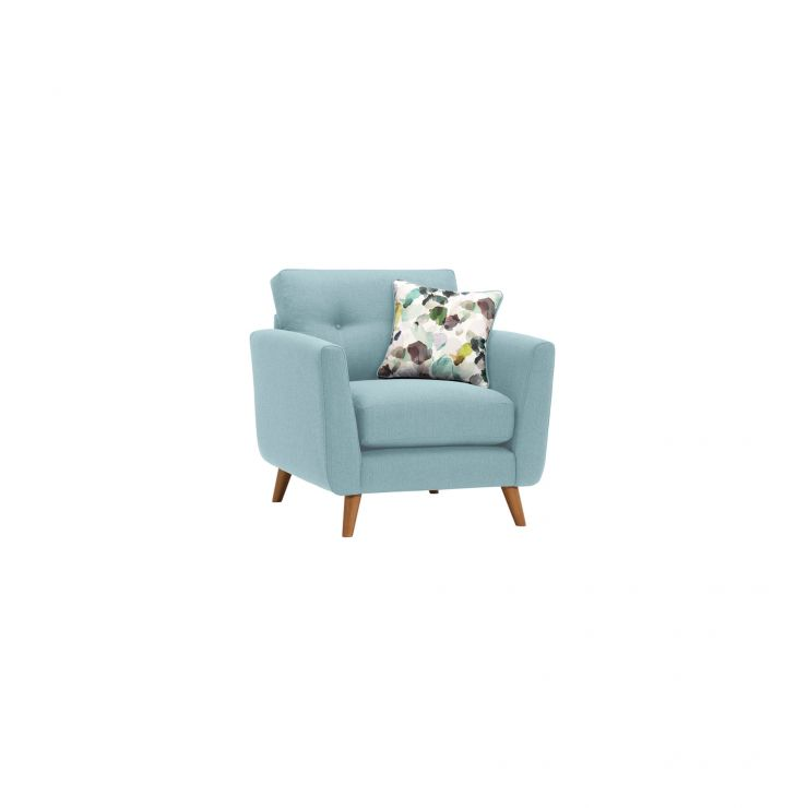 Evie Armchair in Sky Fabric - Image 1