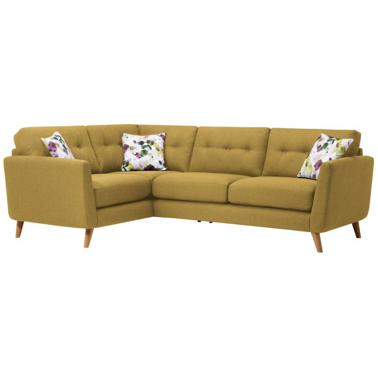 Evie Right Hand Corner Sofa in Lime Fabric