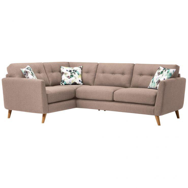 Evie Right Hand Corner Sofa in Mink Fabric