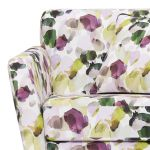 Evie Swivel Chair in Patterned Purple Fabric + Charcoal Scatter - Thumbnail 8