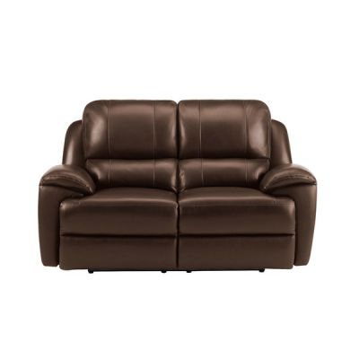 Finley 2 Seater Sofa with 2 Electric Recliners - Light Brown Leather