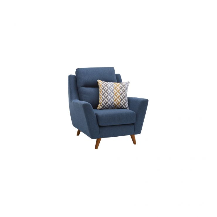 Fraser Armchair in Icon Fabric - Blue - Image 1