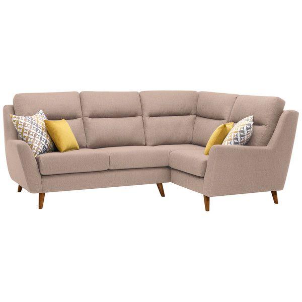 Fraser Left Hand Corner Sofa in Icon Fabric - Mink