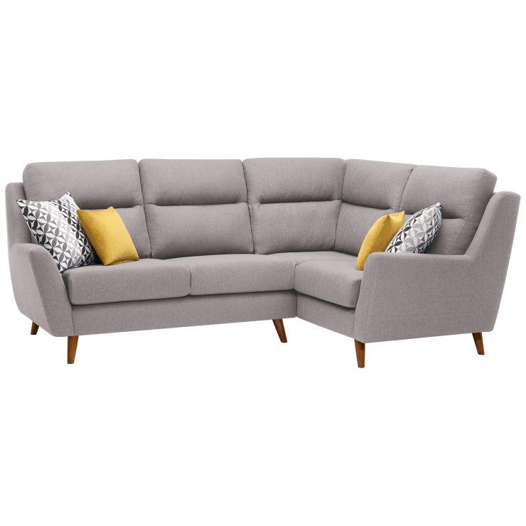 Fraser Left Hand Corner Sofa in Icon Fabric - Silver
