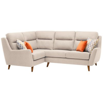 Fraser Right Hand Corner Sofa in Icon Fabric - Ivory
