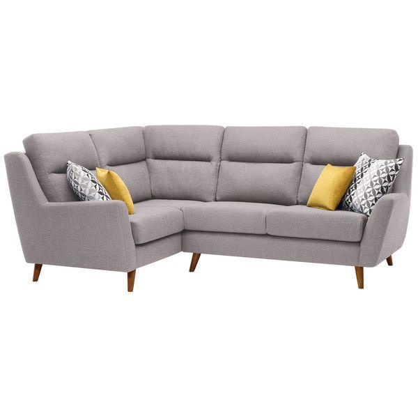 Fraser Right Hand Corner Sofa in Icon Fabric - Silver