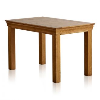 """French Farmhouse Rustic Solid Oak 4ft x 2ft 6"""" Dining Table"""