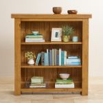 Hercules Rustic Solid Oak Small Bookcase - Thumbnail 5