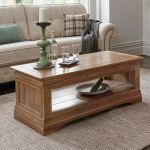 French Farmhouse Rustic Solid Oak Coffee Table - Thumbnail 3
