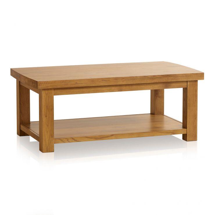 Hercules Rustic Solid Oak Large Coffee Table - Image 7
