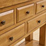 Hercules Rustic Solid Oak Console Table - Thumbnail 6