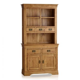 French Farmhouse Rustic Solid Oak Small Dresser