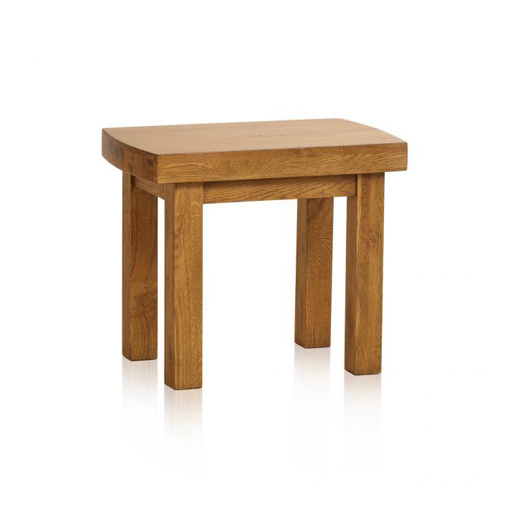 Hercules Rustic Solid Oak Dressing Table Stool