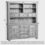 Hercules Rustic Solid Oak Large Dresser - Thumbnail 6