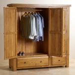 Hercules Rustic Solid Oak Triple Wardrobe - Thumbnail 4