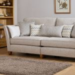 Gainsborough 4 Seater Sofa in Silver with Silver Scatters - Thumbnail 2