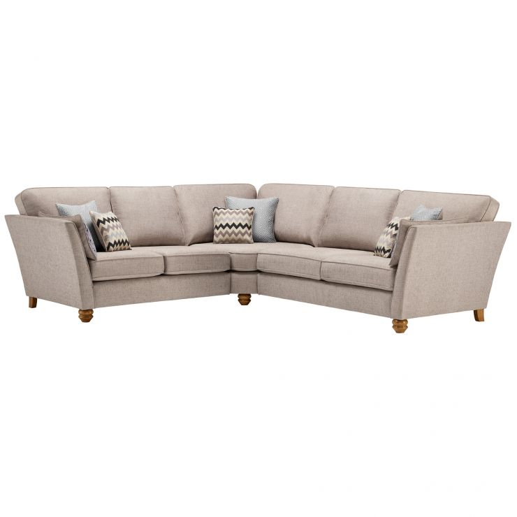 Gainsborough Large Corner Sofa in Silver with Silver Scatters