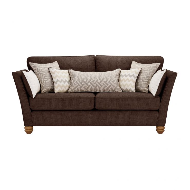 Gainsborough 3 Seater Sofa in Brown with Beige Scatters - Image 2