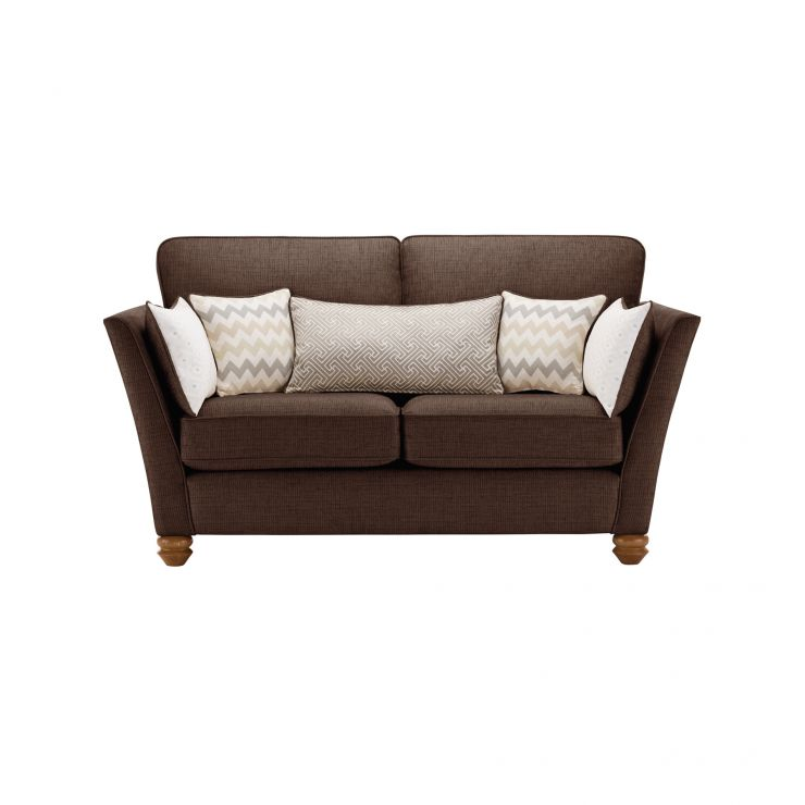 Gainsborough 2 Seater Sofa in Brown with Beige Scatters - Image 1