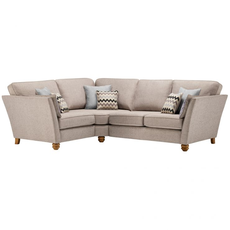 Gainsborough Right Hand Corner Sofa in Silver with Silver Scatters