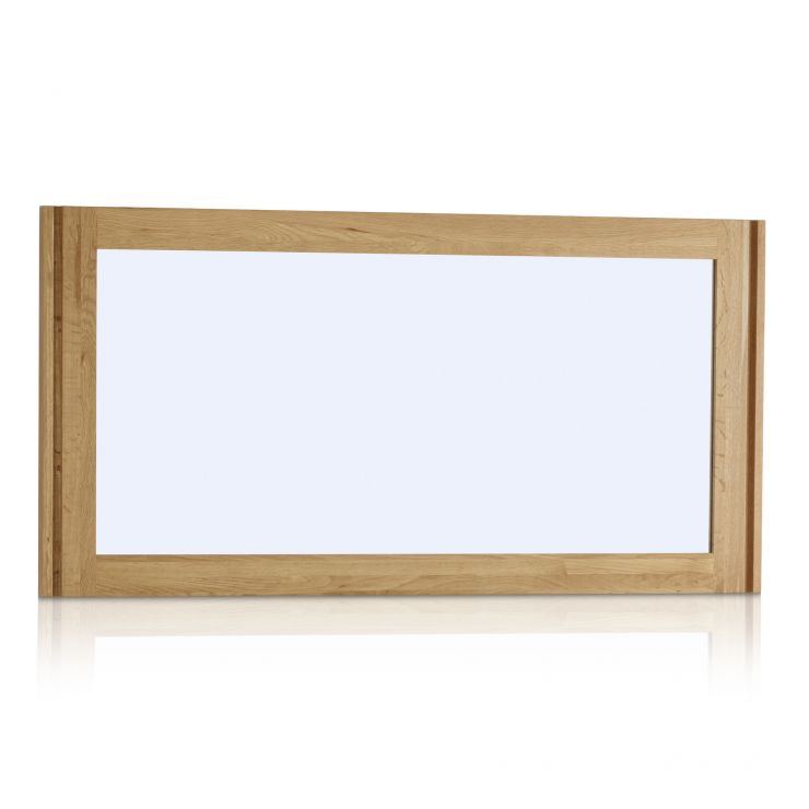 Galway Natural Solid Oak 1200mm x 600mm Wall Mirror