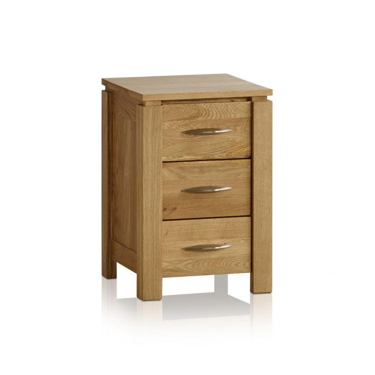 Galway Natural Solid Oak 3 Drawer Bedside Table - Image 7