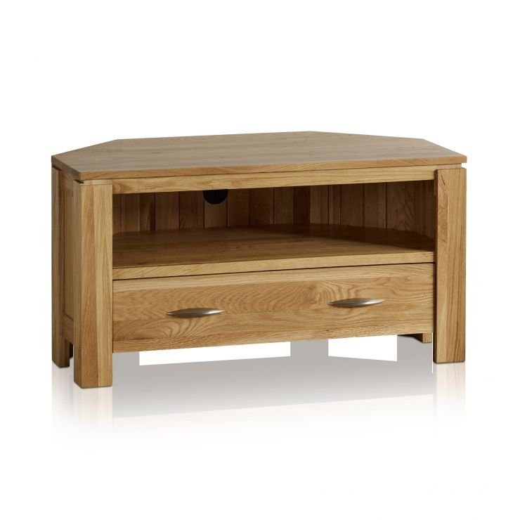 Galway Natural Solid Oak Corner TV Cabinet - Image 1