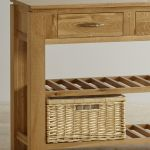 Galway Natural  Solid Oak Console Table - Thumbnail 4