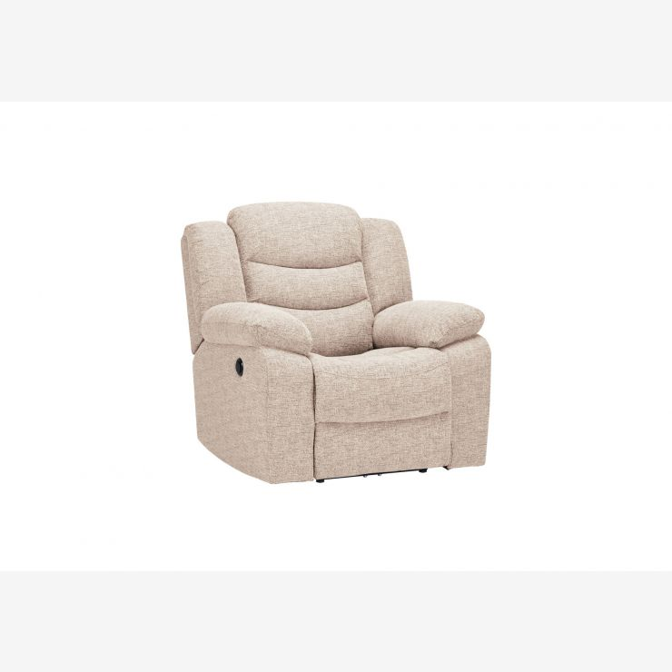 Grayson Electric Recliner Armchair - Oatmeal Fabric