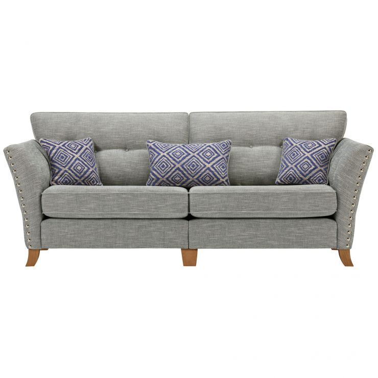 Grosvenor 4 Seater Sofa in Blue with Blue Scatters - Image 2