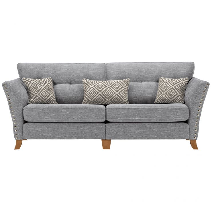 Grosvenor 4 Seater Sofa in Blue with Silver Scatters - Image 1