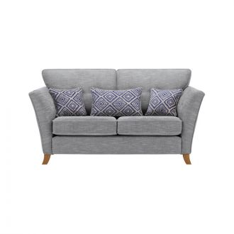 Grosvenor Traditional 2 Seater Sofa in Blue with Blue Scatters
