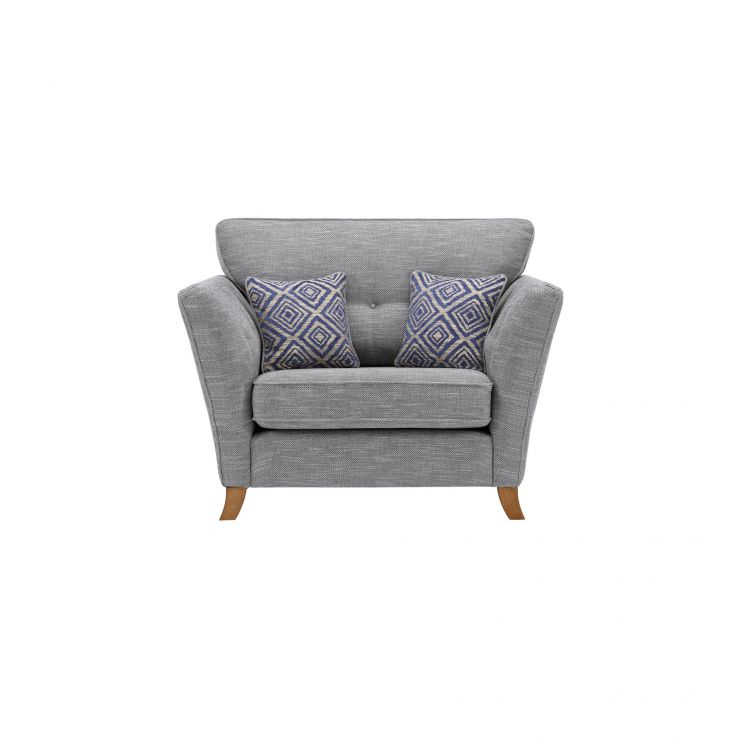 Grosvenor Traditional Loveseat in Blue with Blue Scatters - Image 1