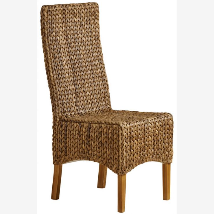High Back Grass Chair with Natural Solid Mango Legs - Image 5