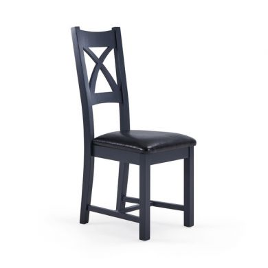 Highgate Black Leather Dining Chair